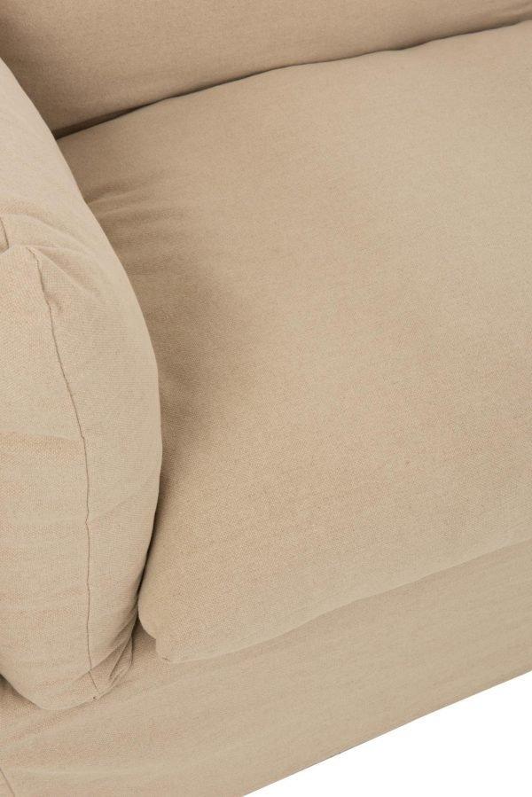 bank beige linnen katoen 2-3 persoons
