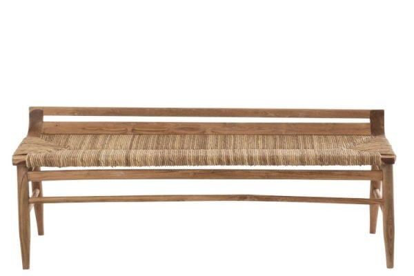 bankje teak hout naturel
