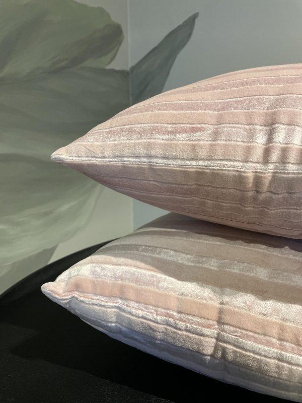 kussen rechthoekig zacht roze katoen