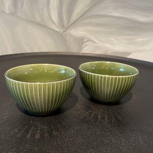 schaaltje keramiek groen servies