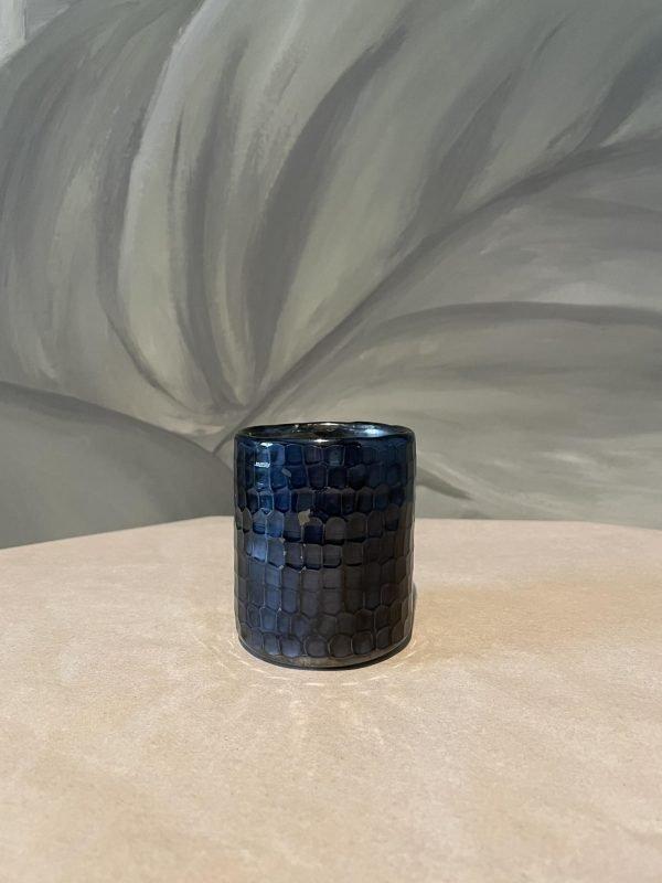 theelichtje glas donker blauw