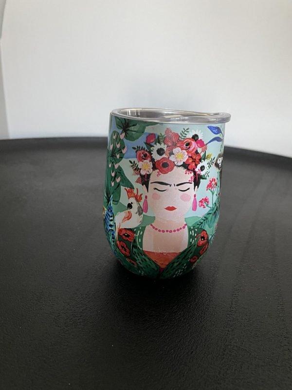 thermobeker Frida Kahlo stijlvol tropisch
