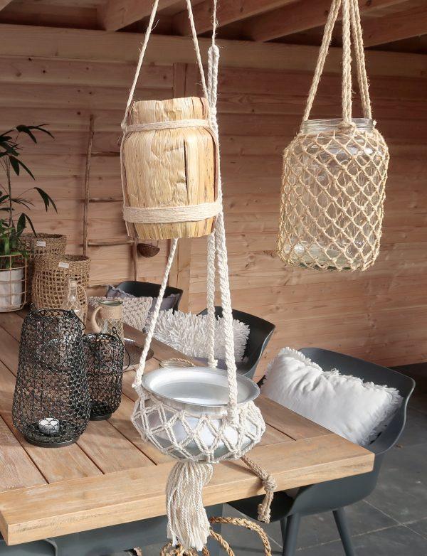kaarsenhouder naturel tuin